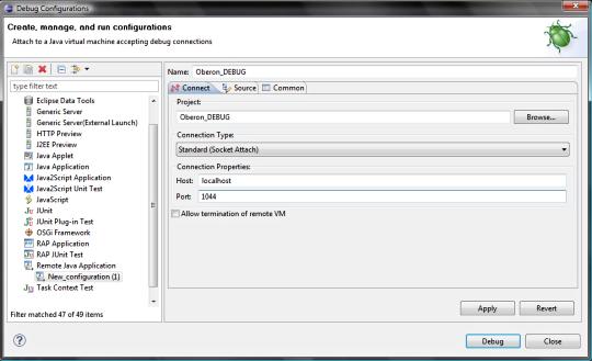 OBEROn - Tutorial - Debug program and trigger source code